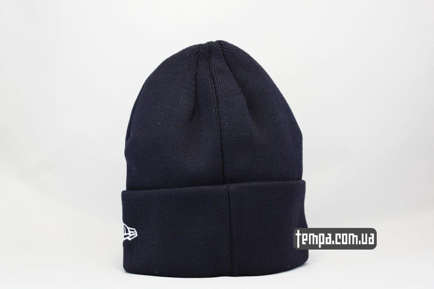теплая зимняя шапка beanie New York Yankees New Era темно-синяя