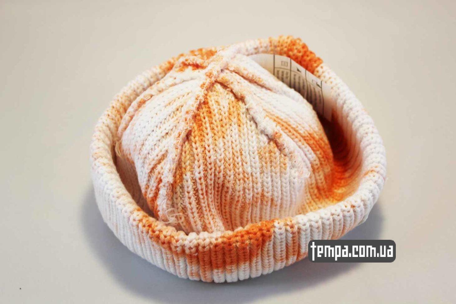 в пятная где купить короткая шапка beanie Carhartt пятнистая оранжево-белая