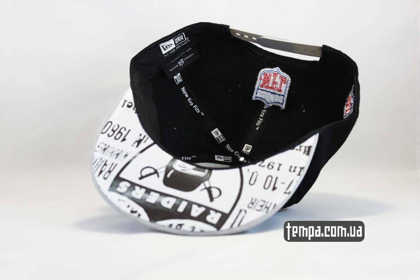 1980 кепка snapback Raiders New Era черная серая