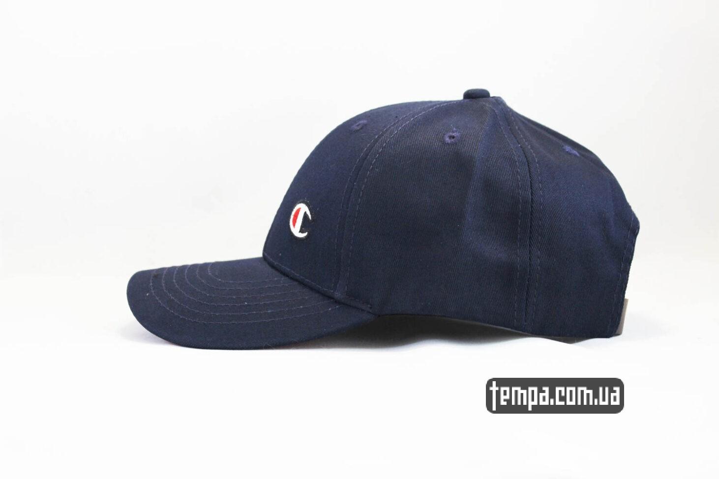 бейсболка кепка Champion snapback синяя с красны ободом-2