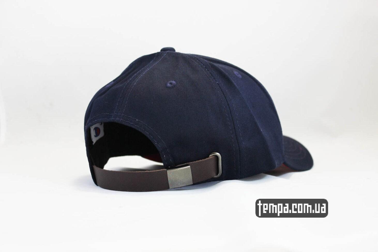 чемпион одежда Укаина кепка Champion snapback синяя с красны ободом-2