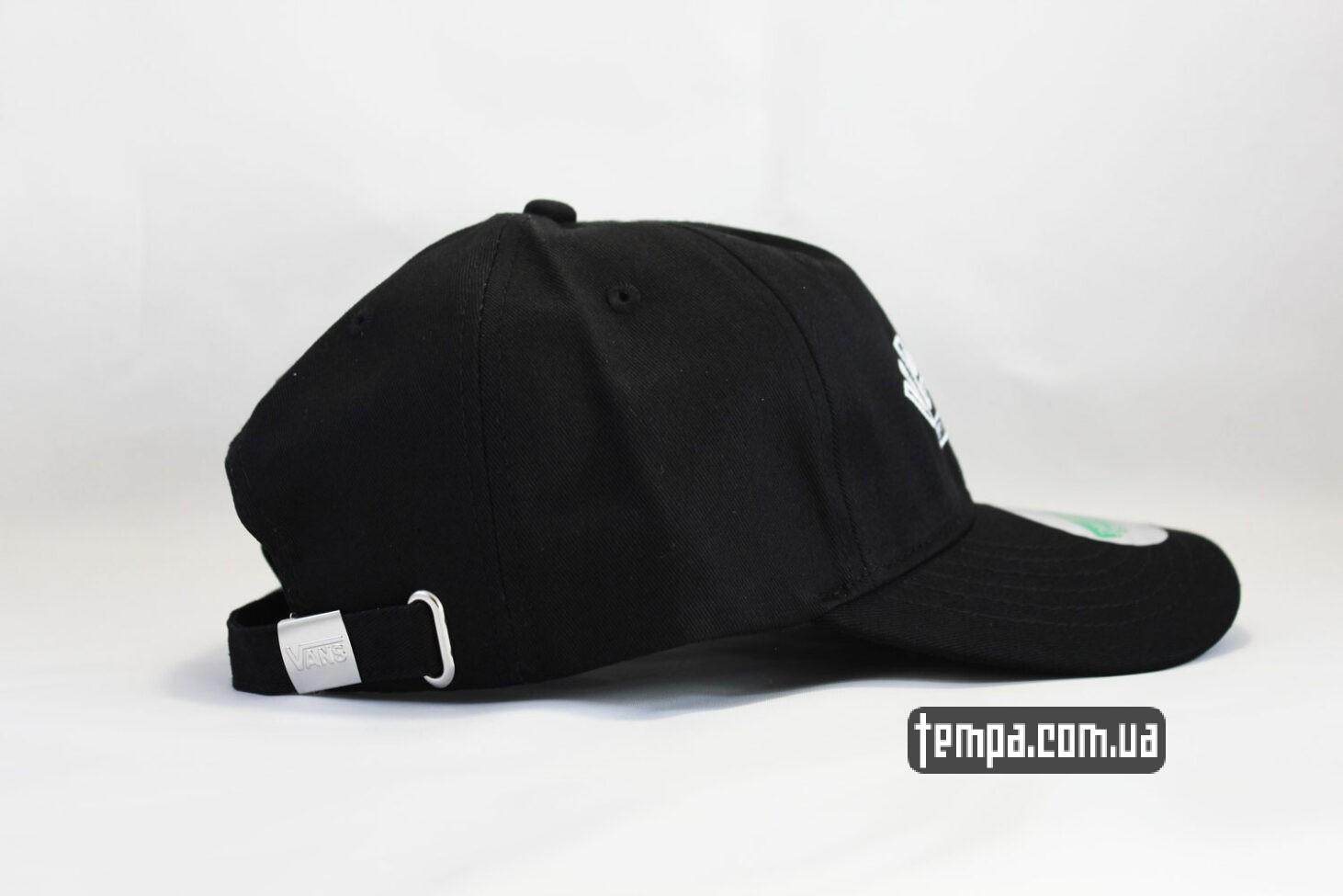черная бейсболка VANS OFF THE WALL black cap черная кепка купить
