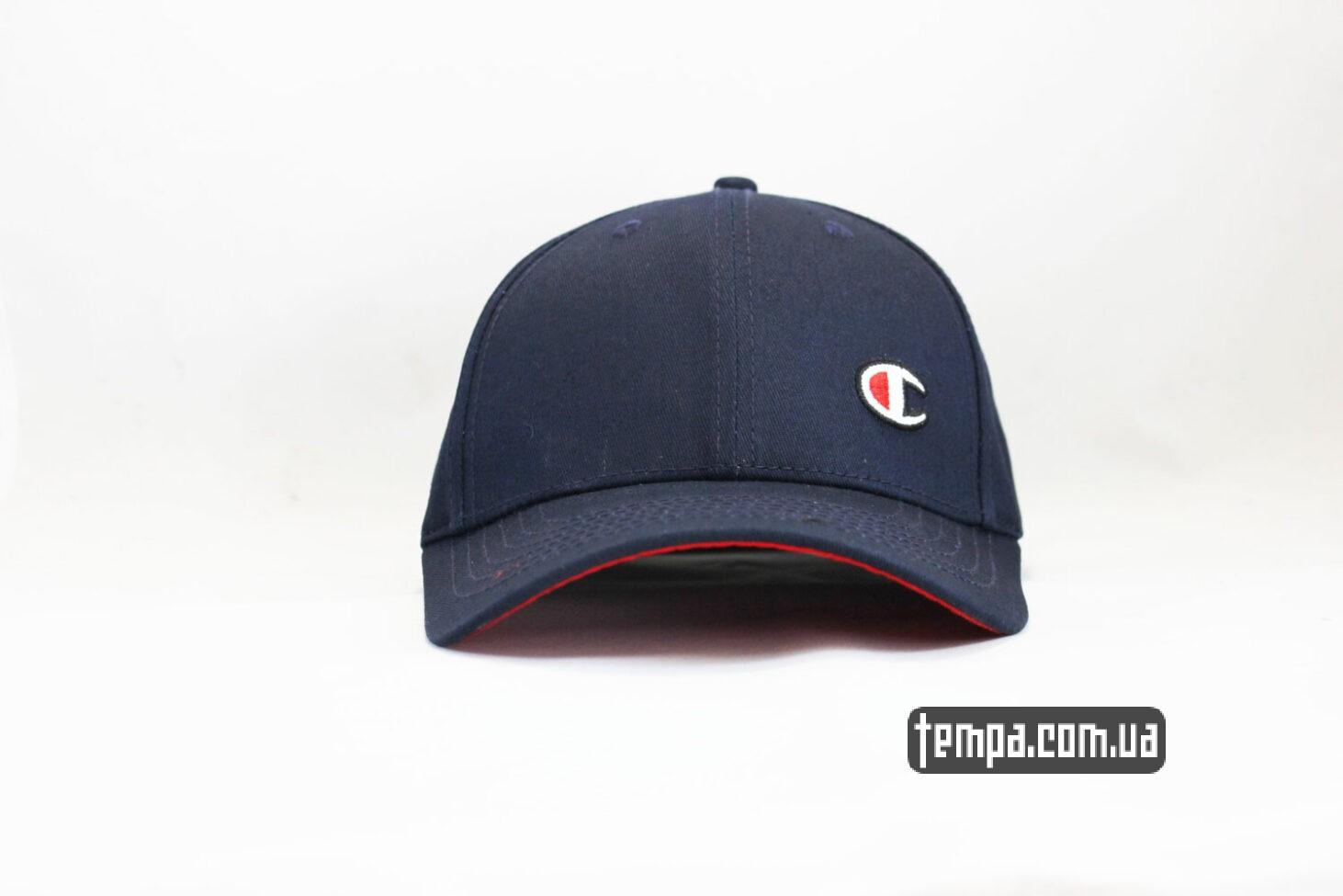 кепка Champion snapback синяя с красны ободом-2