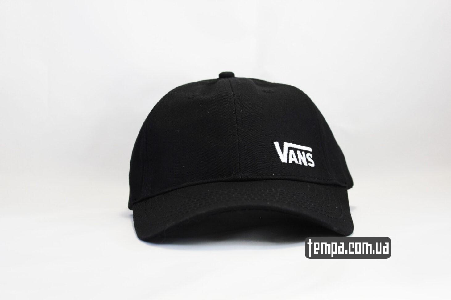 кепка VANS black логотип сбоку черная бейсболка