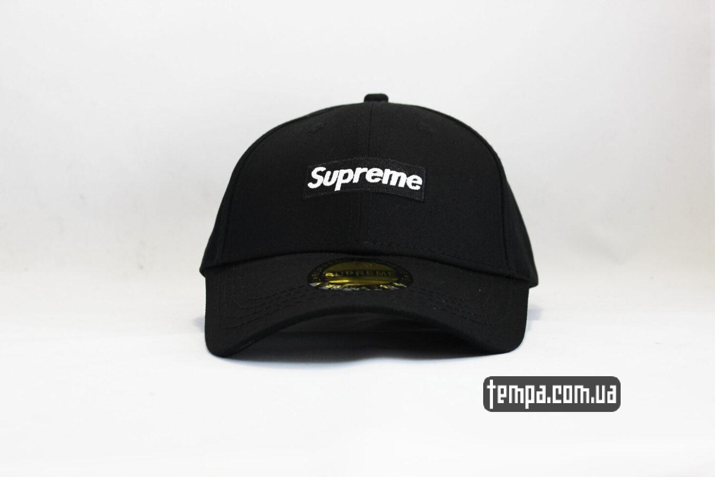 кепка бейсболка supreme черный логотип суприм украина