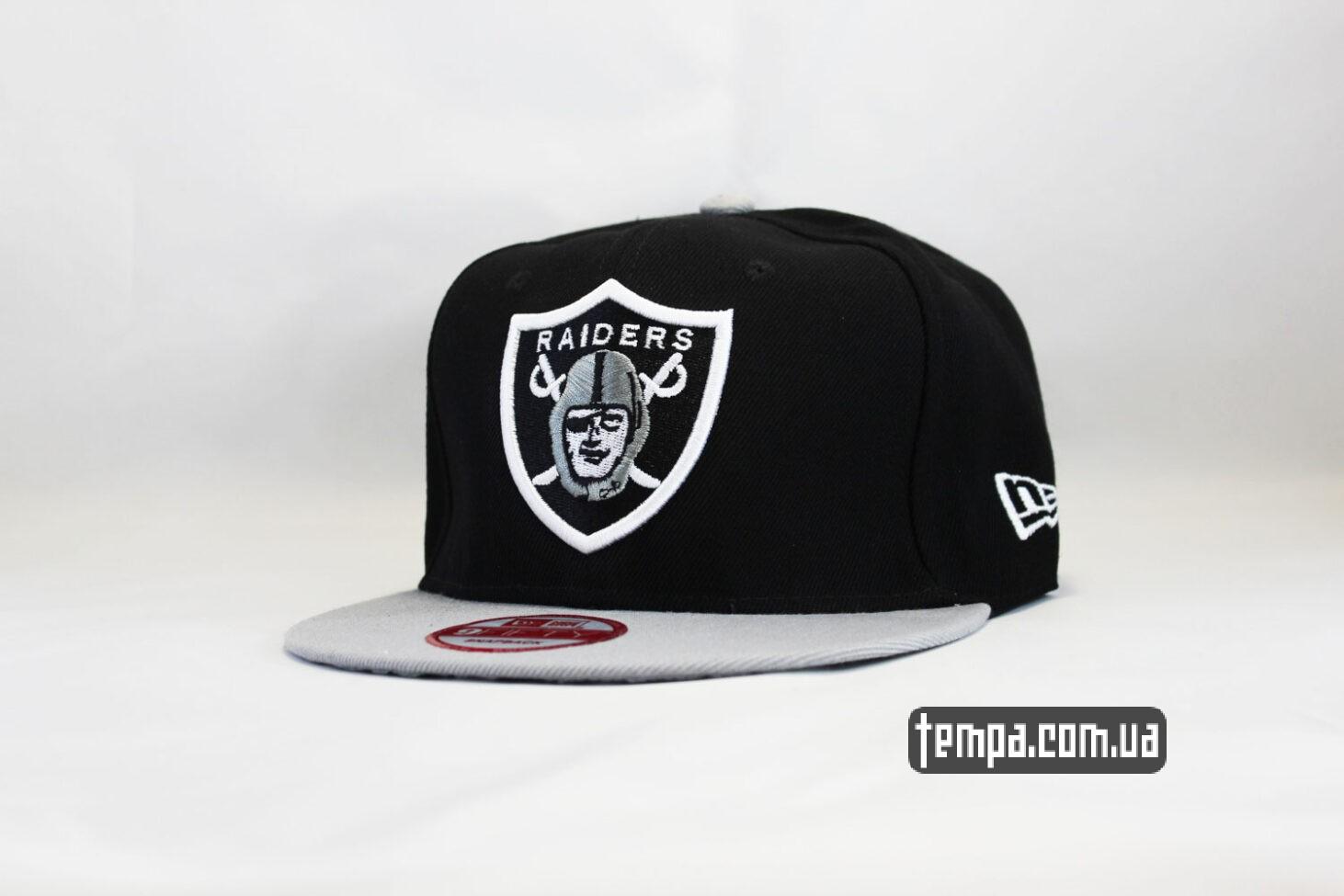 кепка snapback Raiders New Era черная серая