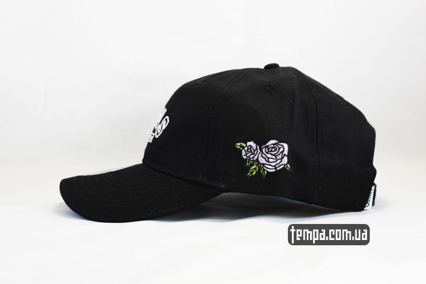 с розой VANS OFF THE WALL black cap черная кепка купить