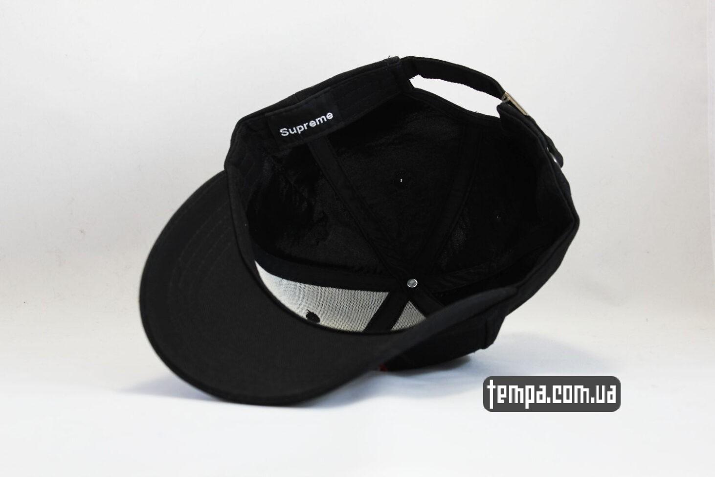 суприм магазин купить кепка snapback Supreme Black черная бейсболка