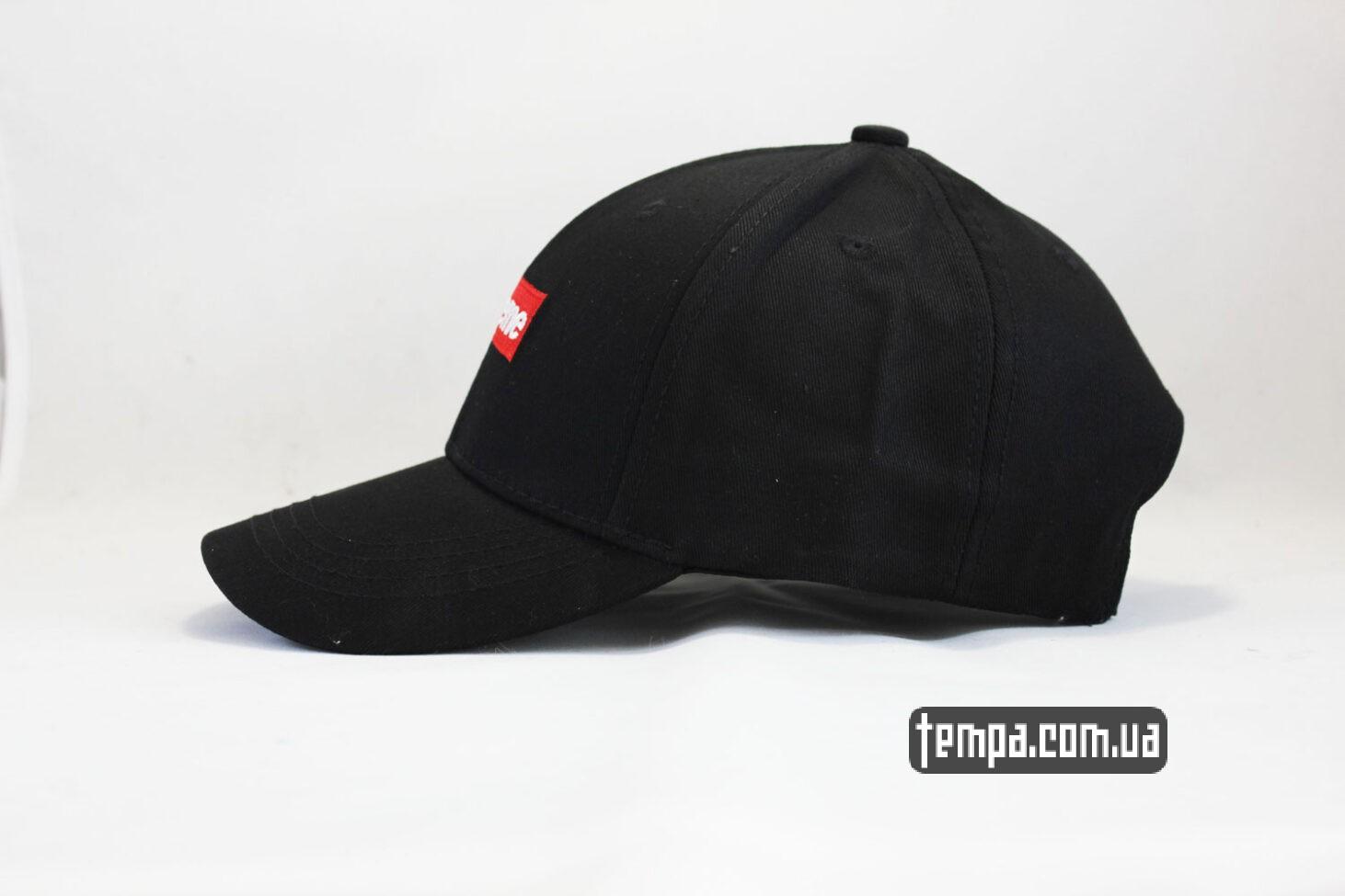 суприм украина кепка snapback Supreme Black черная бейсболка