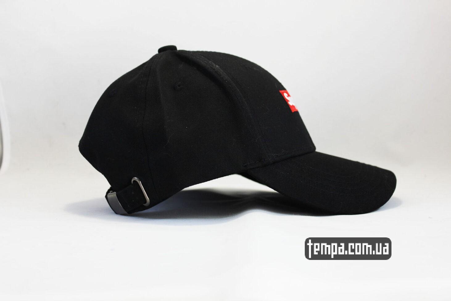 суприм украина красный логотип кепка snapback Supreme Black черная бейсболка