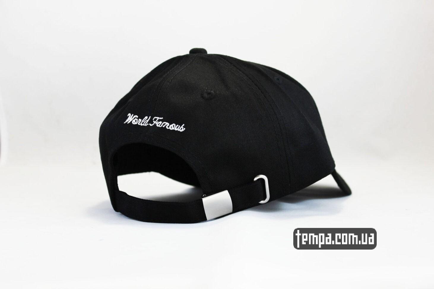 world famous кепка бейсболка supreme черный логотип суприм украина