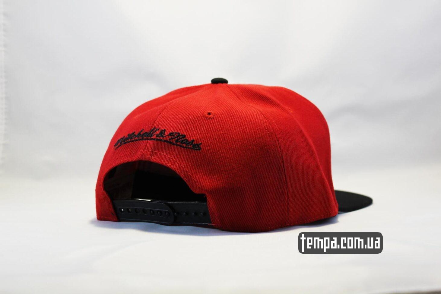 Баскетбольная одежда купить Украина кепка snapback Chicago Bulls New Era красная с быком