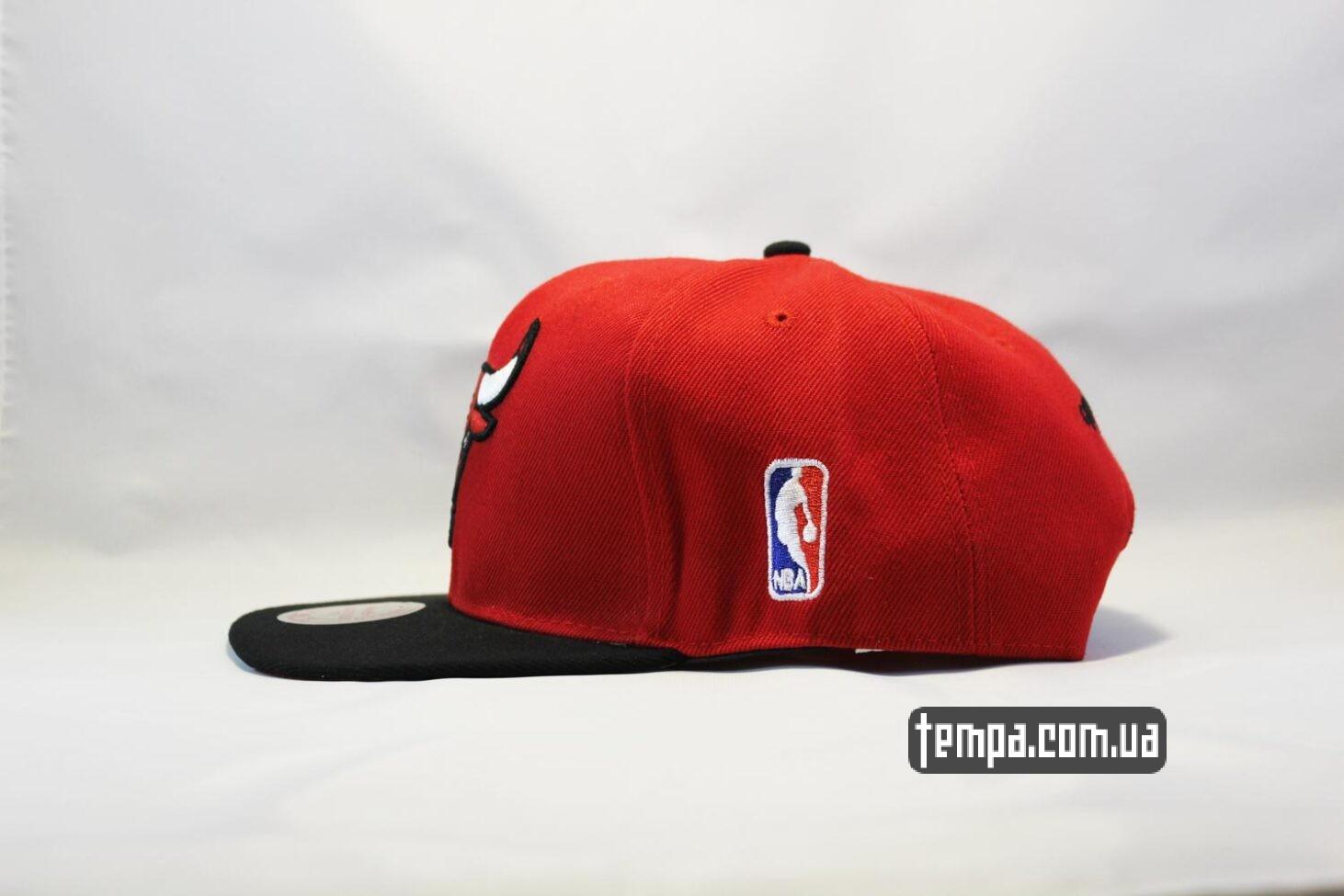 Чикаго Булс бейсболка кепка snapback Chicago Bulls New Era красная с быком
