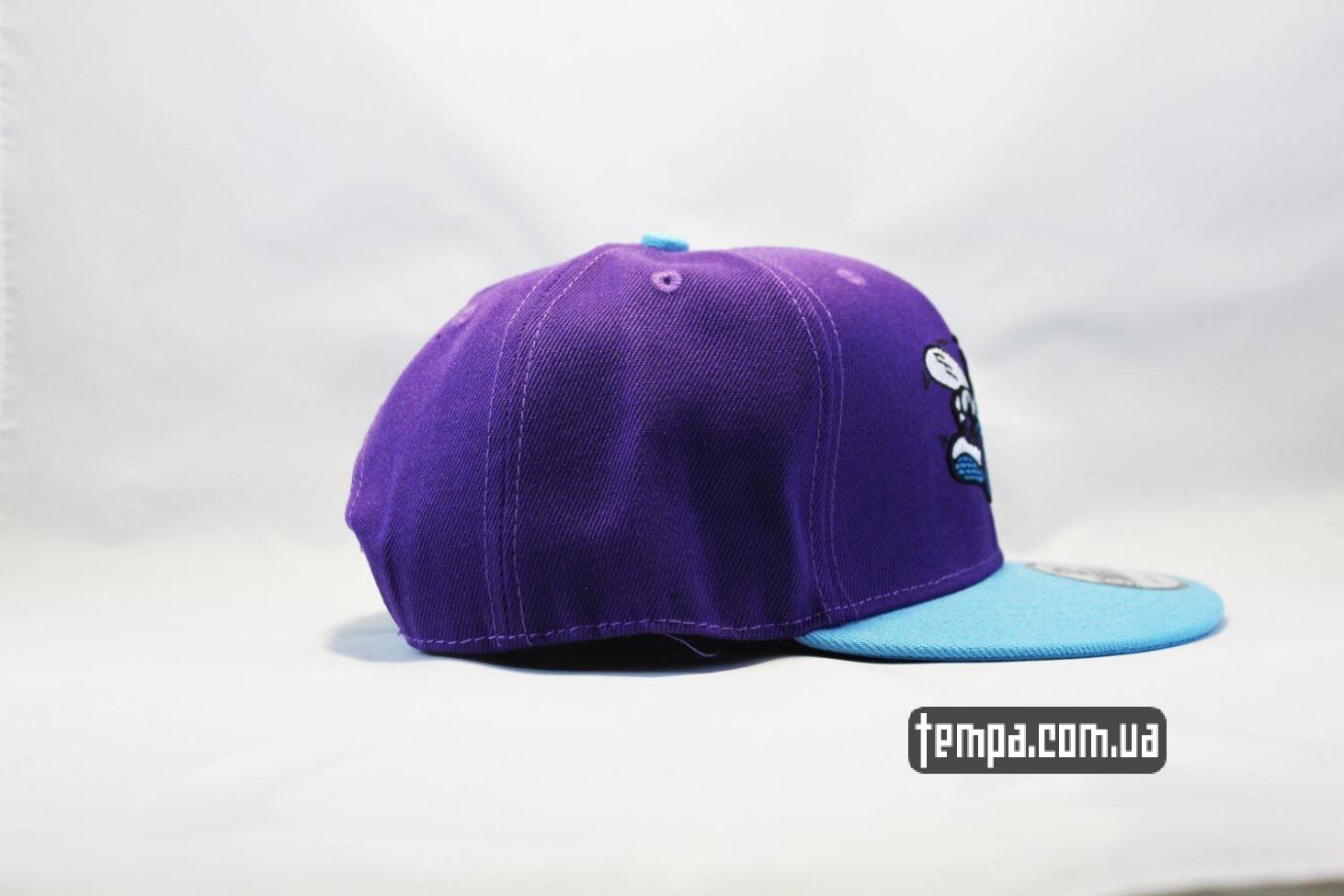New Era магазин Украина кепка snapback Hornets фиолетовя с осой New Era купить
