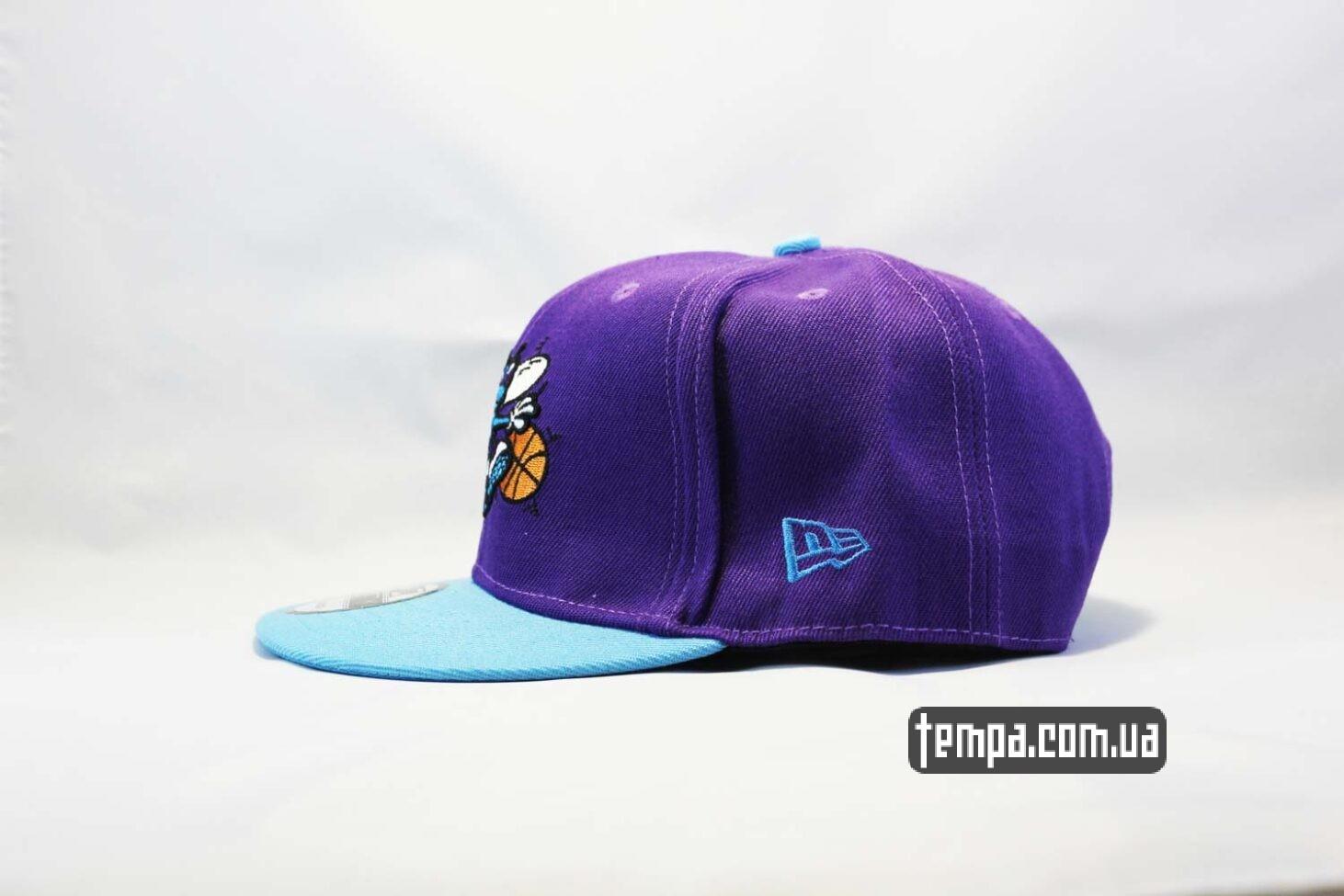 NewEra оригинал Украина кепка snapback Hornets фиолетовя с осой New Era купить