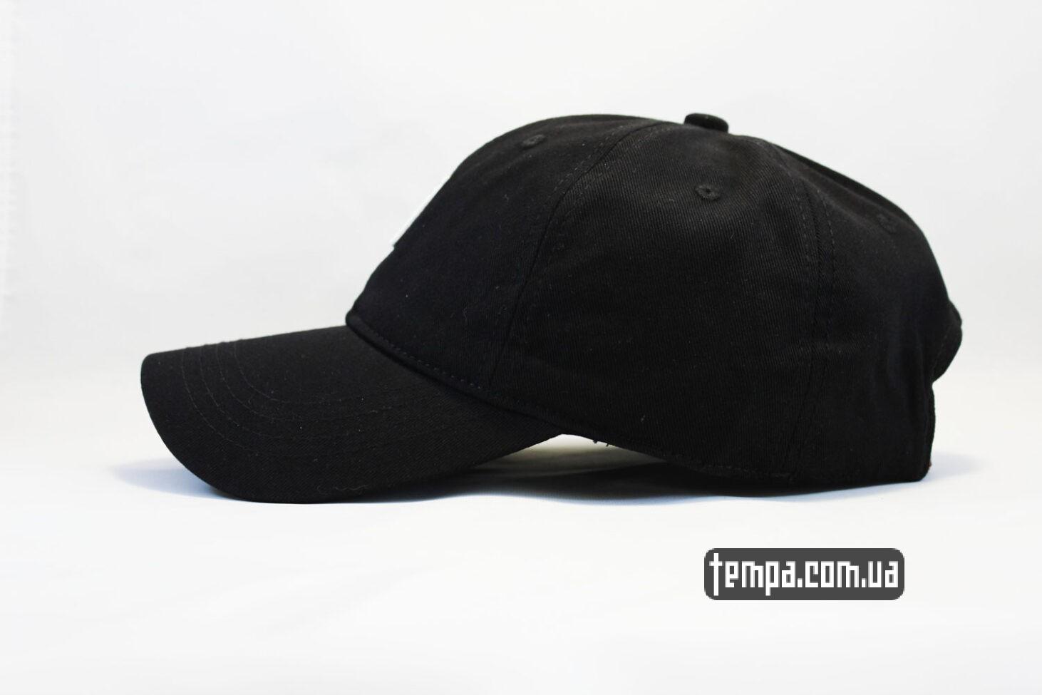 чисто черная кепка бейсболка Carhartt с нашивкой черная
