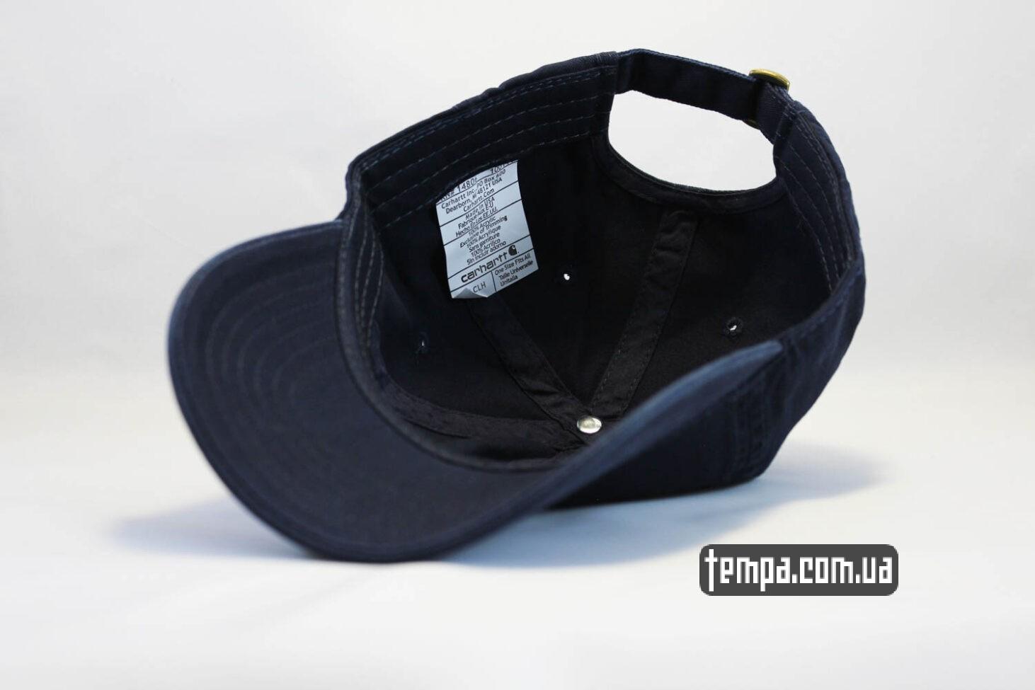 кархарт оригинал кепка бейсболка Carhartt синяя кожаный логотип