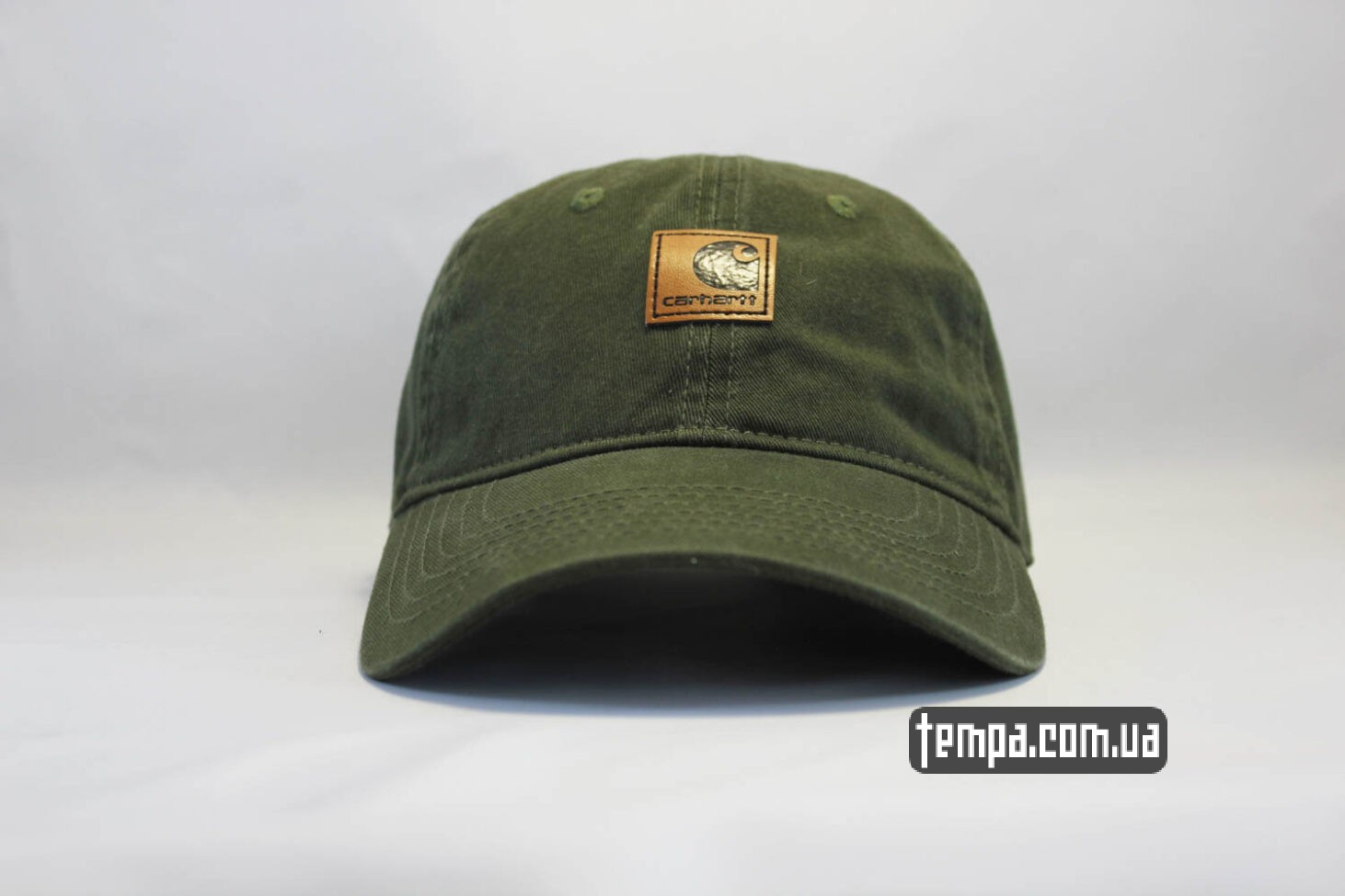 кепка бейсболка Carhartt green зеоеная кожаный козырек