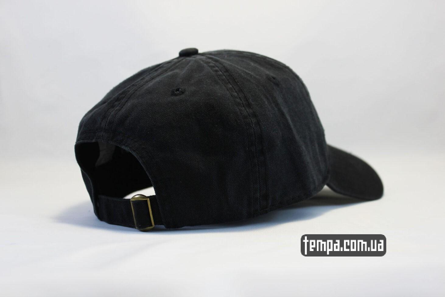 одежда Кархарт купить кепка бейсболка carhartt кожаный логтип черная