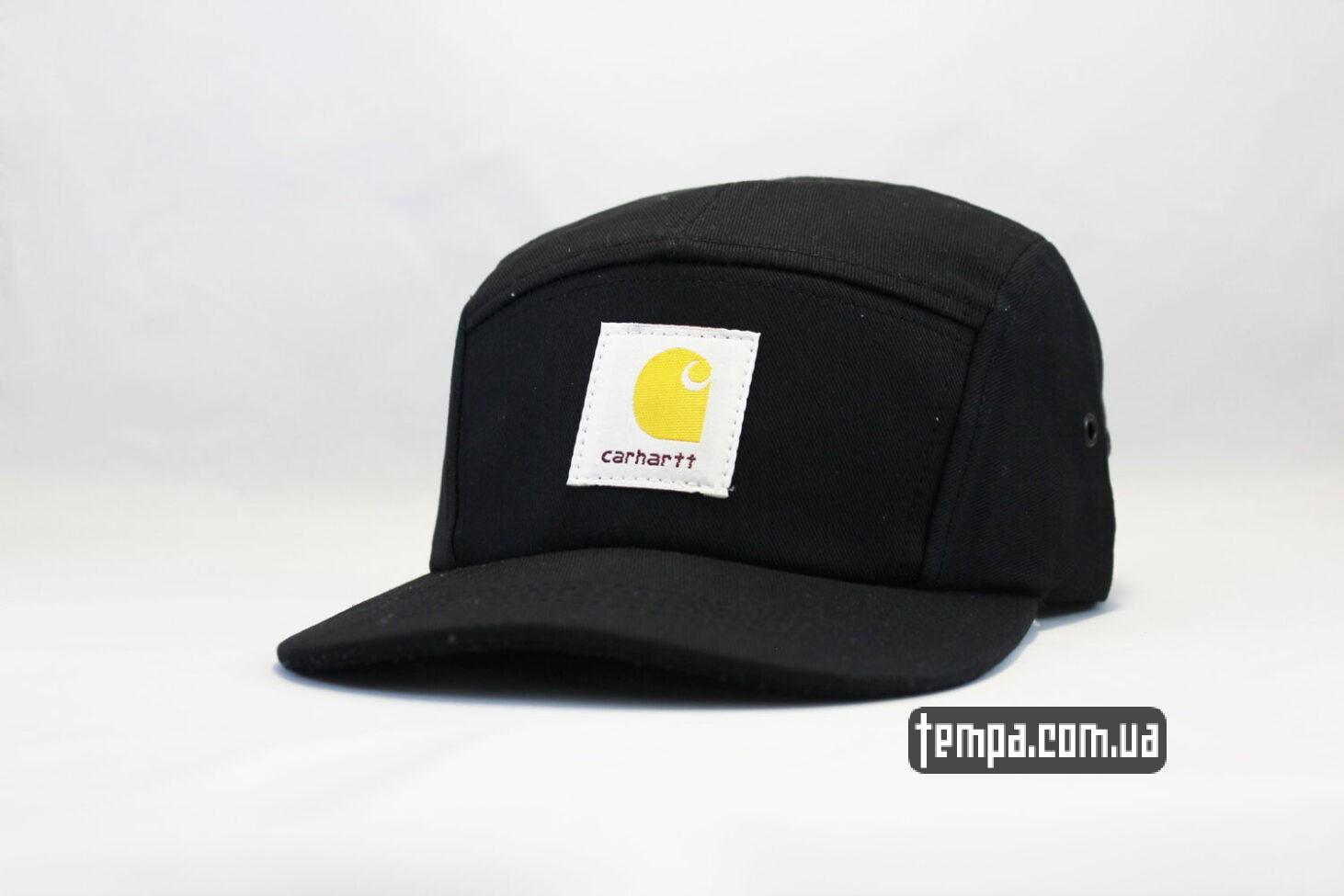пятипанельная кепка carhartt 5 panel cap черная
