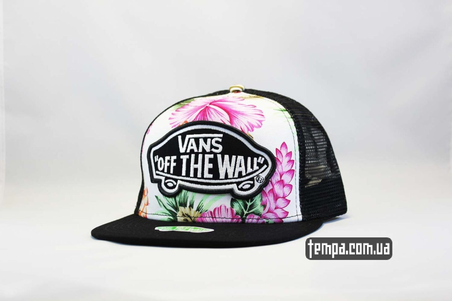 кепка snapback VANS OFF THE WALL с цветами сеточка