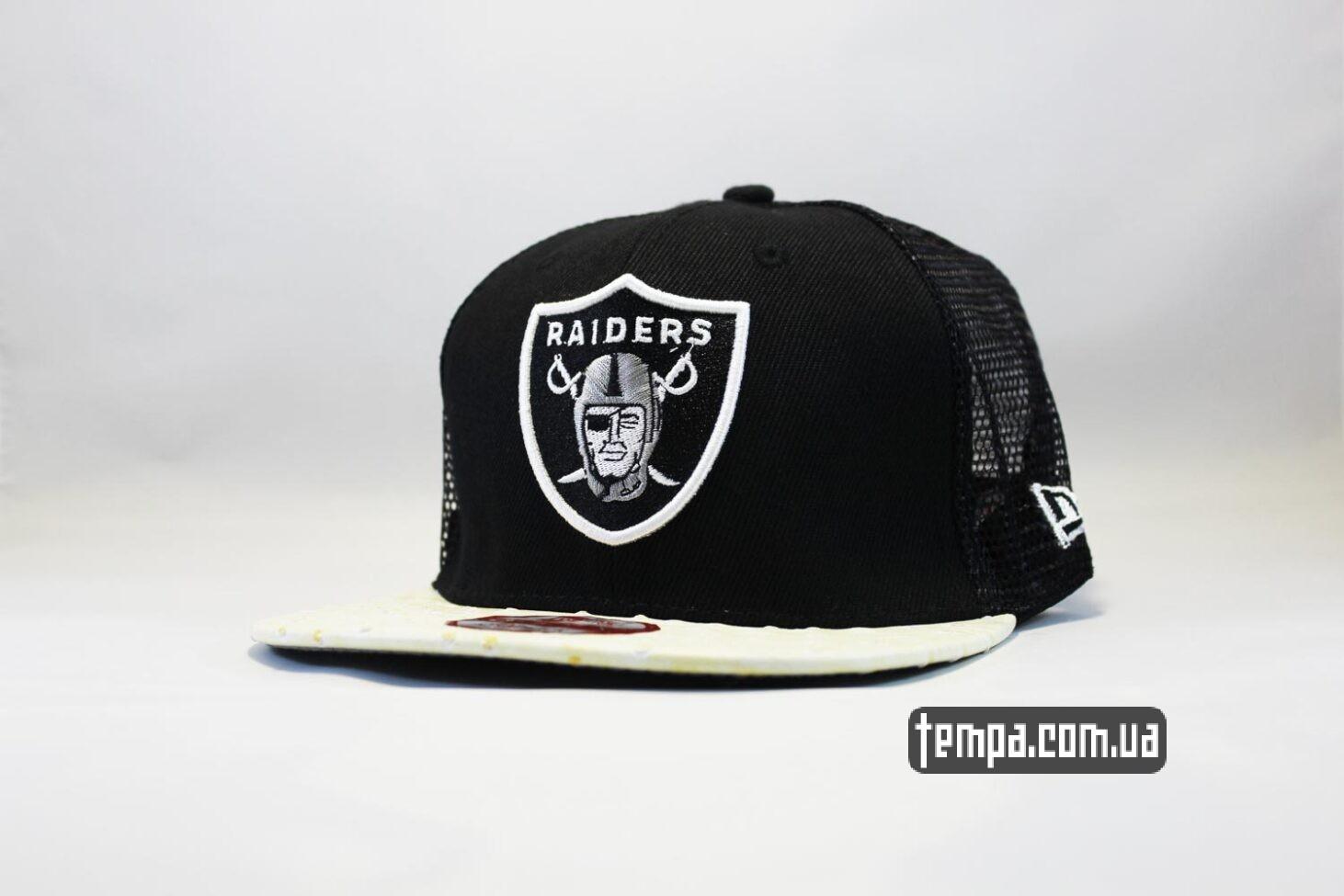 кепка Trucker Snapback Raiders New Era 9fifty сетка