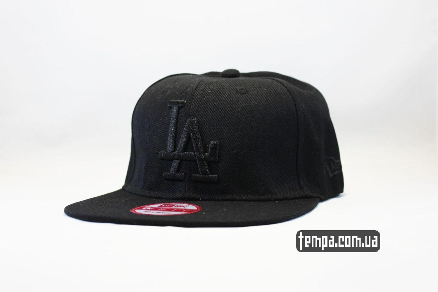 кепка snapback LA Los Angeles New Era 9fifty черная на черном