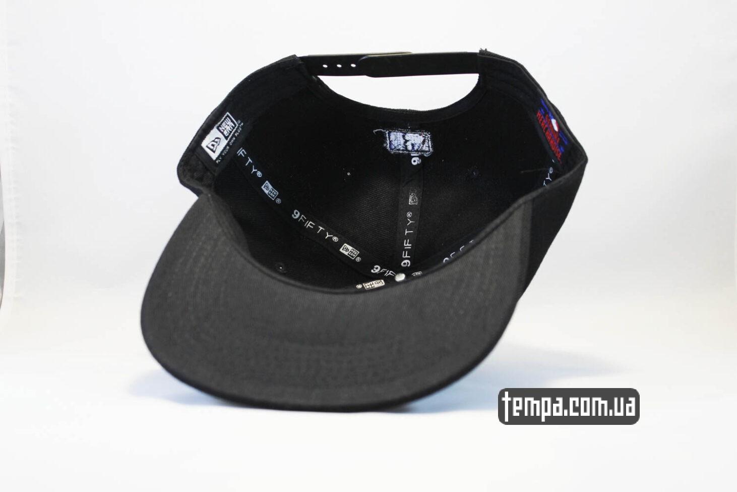 снепбеки украина кепка Snapback New Era NYC New York черная на черном black