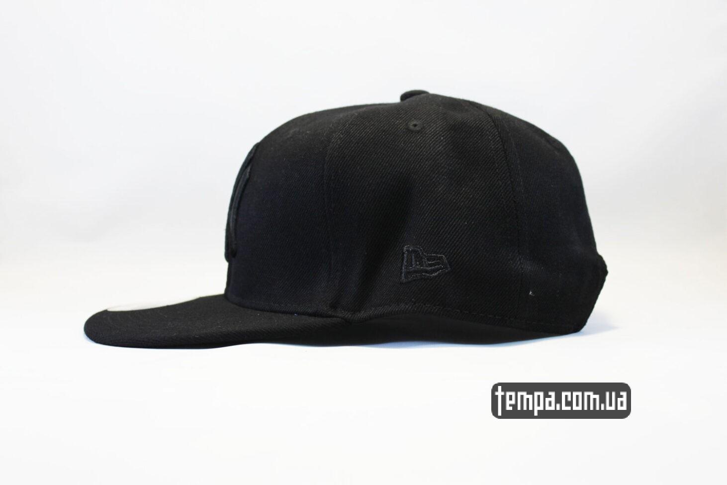 янки янкис кепка Snapback New Era NYC New York черная на черном black