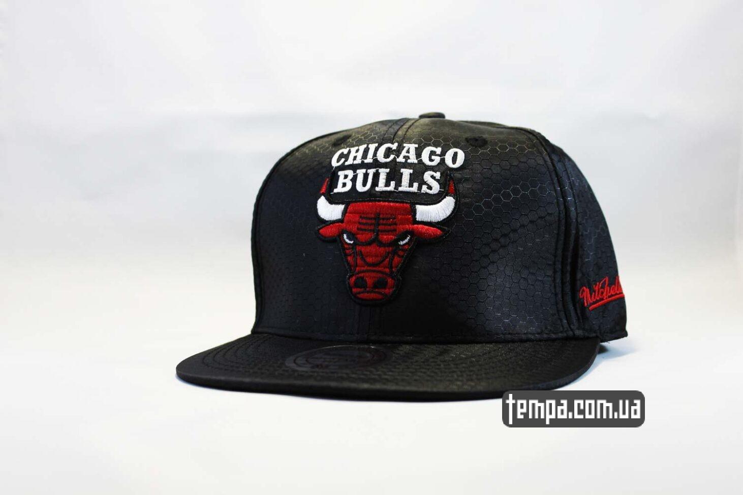 кепка snapback Chicago Bulls NewEra кажаная черная