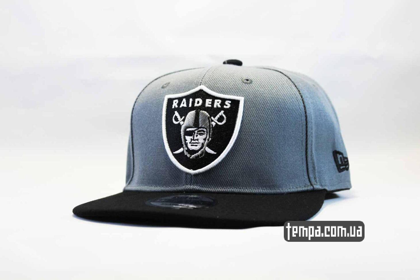 кепка snapback Raiders NewEra 9fifty серая