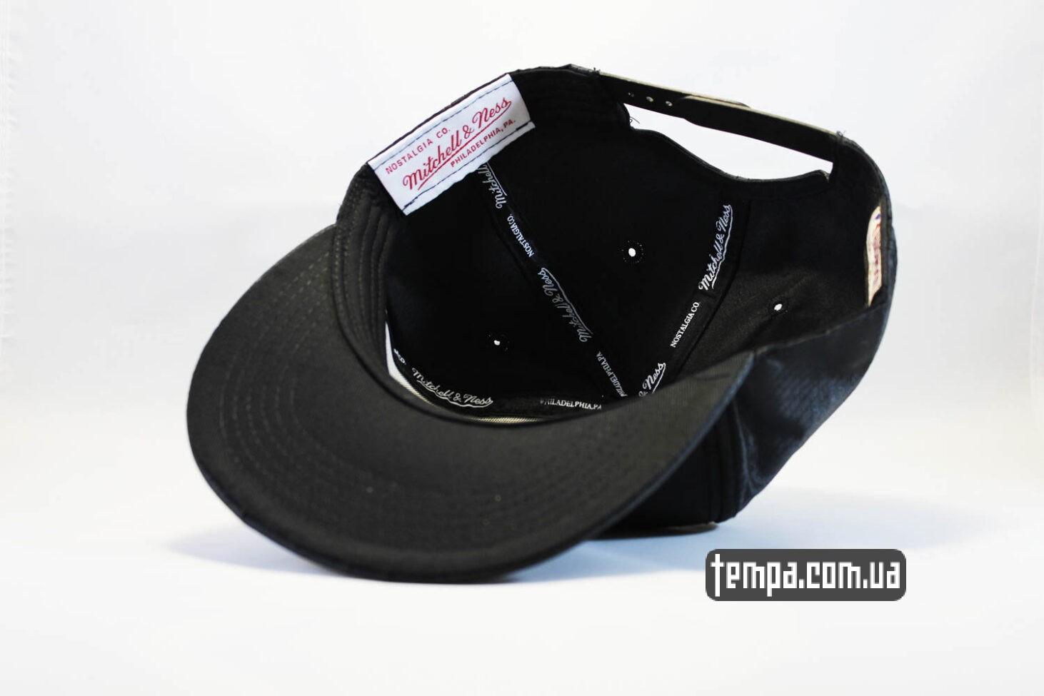 ньюэра одежда купить кепка snapback Chicago Bulls NewEra кажаная черная