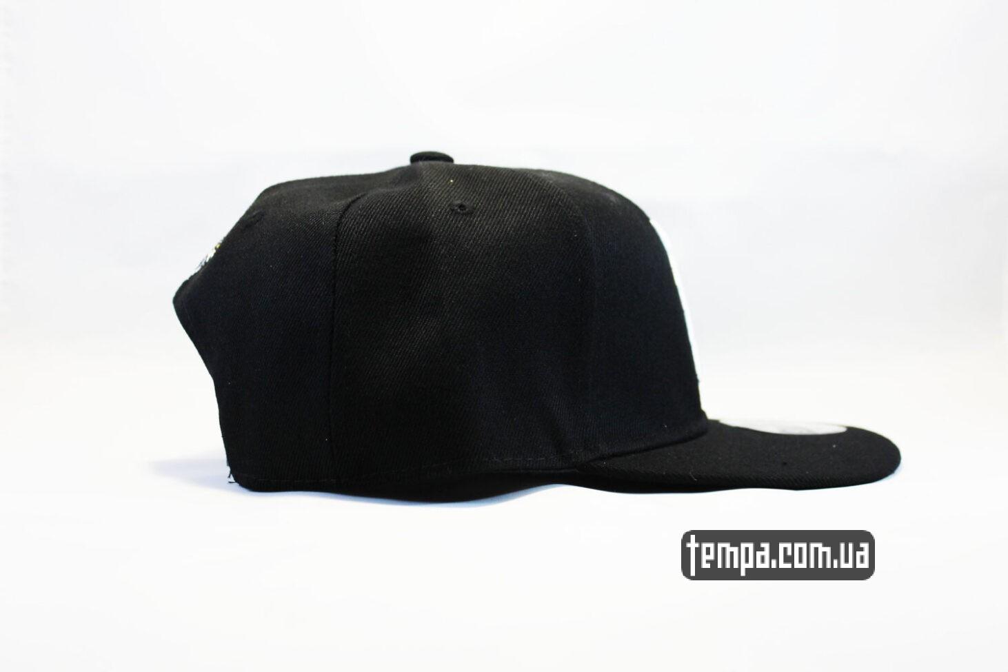 прямой короткий козырек кепка snapback detroit newera черная бейсболка