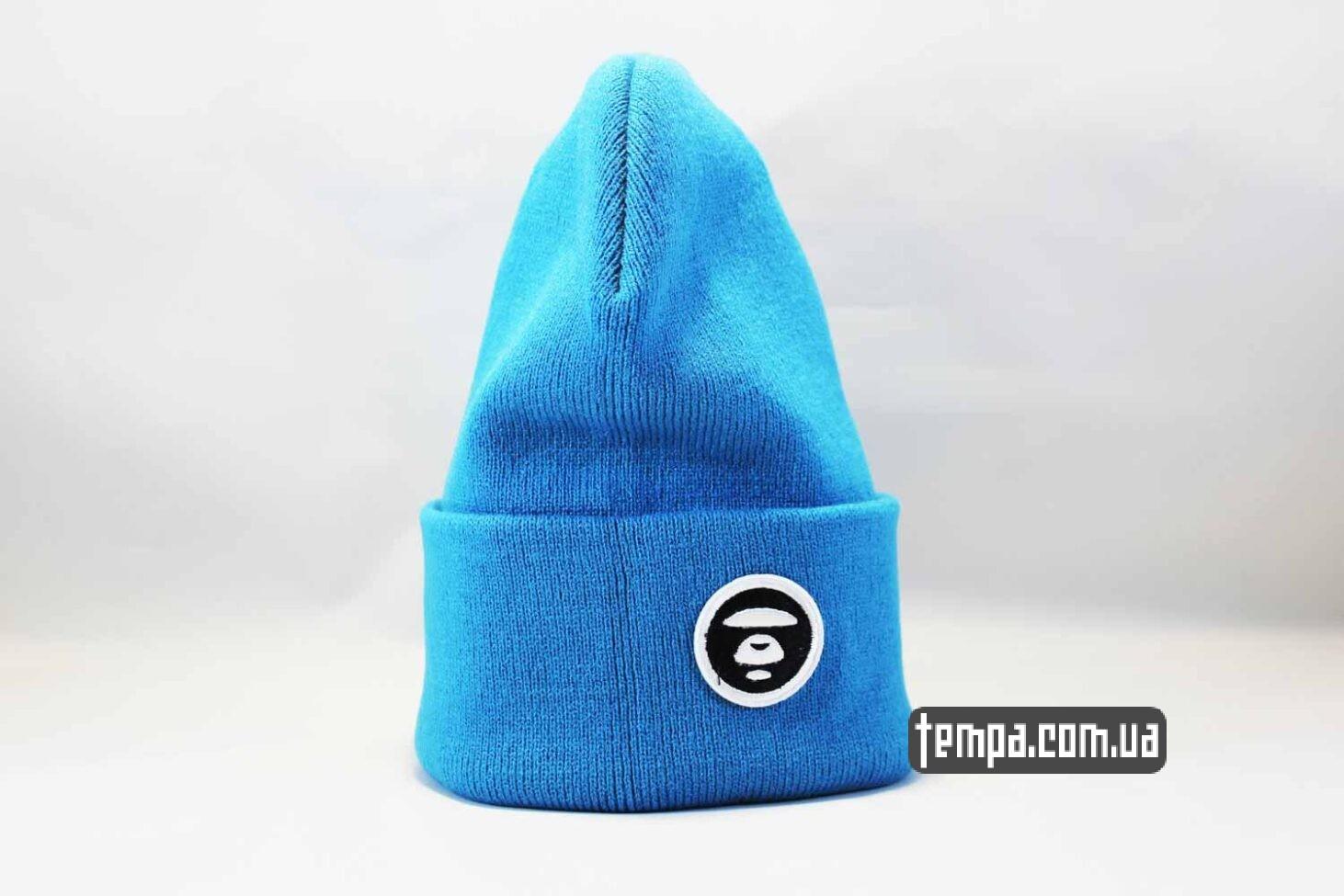 эйп одежда украина шапка beanie Aape ярко голубая купить Украина
