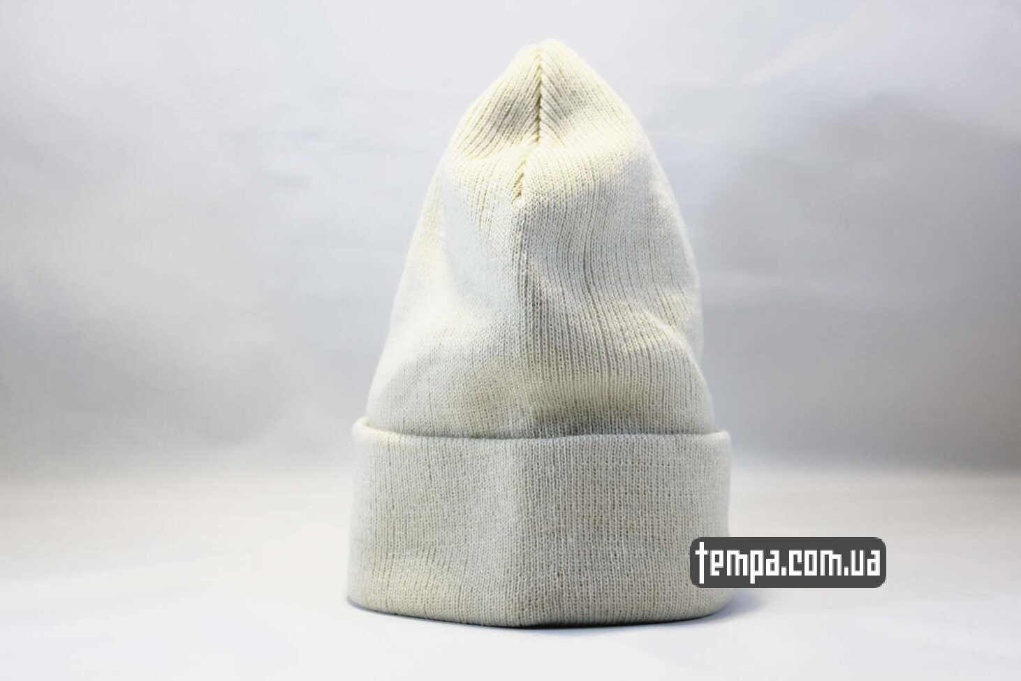 купить оригинал шапка beanie чисто белая однотонная без логотипов ASOS HM