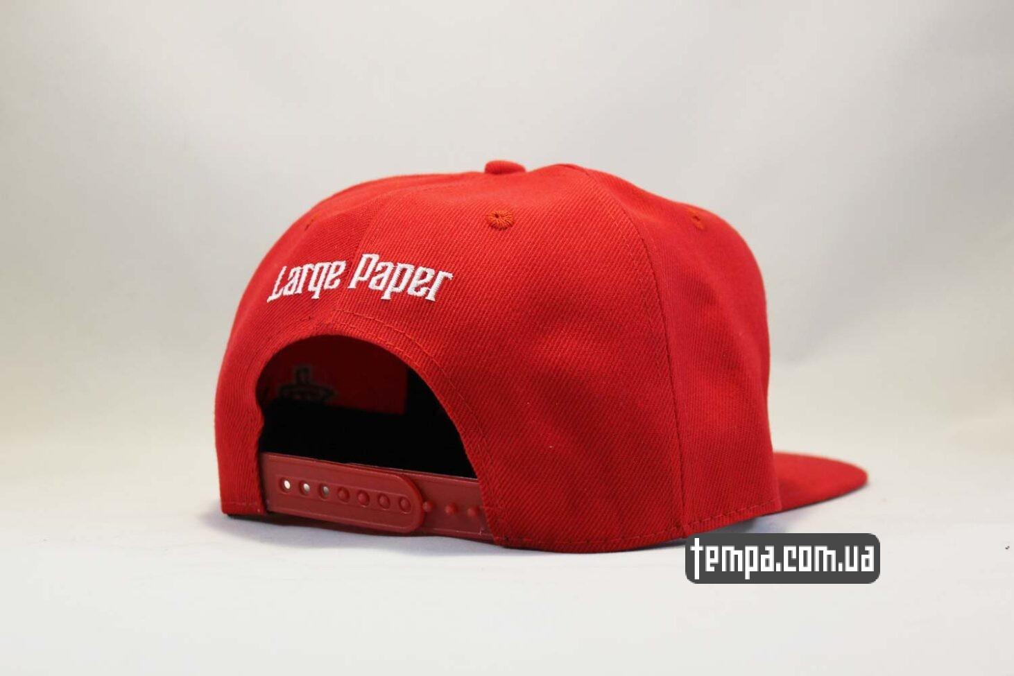 Large Paper кепка Snapback ASOS PHAT Red красная бейсболка