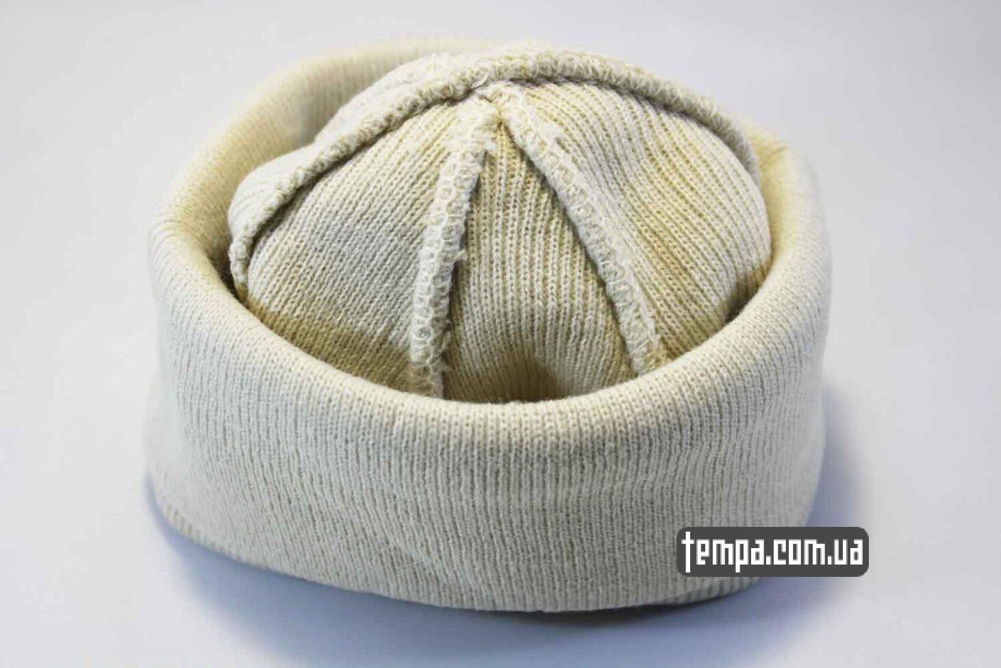 оиригнальная бини украина шапка beanie чисто белая однотонная без логотипов ASOS HM
