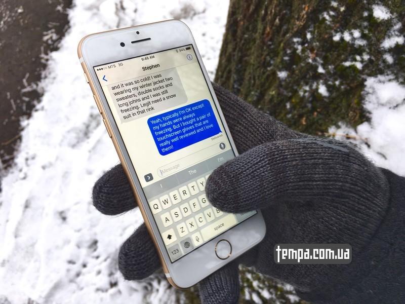 перчатки работают с сенсорным экраном iphone android