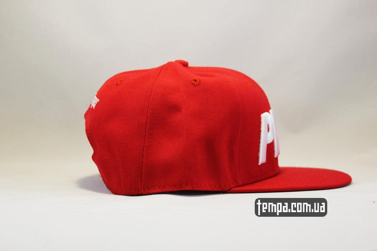 реперская ровный козырек кепка Snapback ASOS PHAT Red красная бейсболка