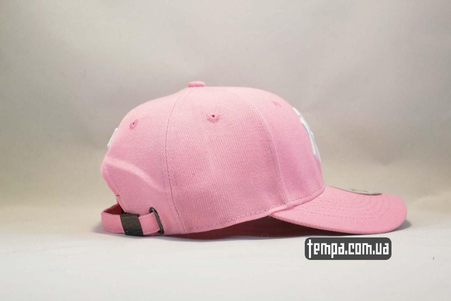 розовая кепка бейсболка New Era Yankees Pink розовая бейсболка