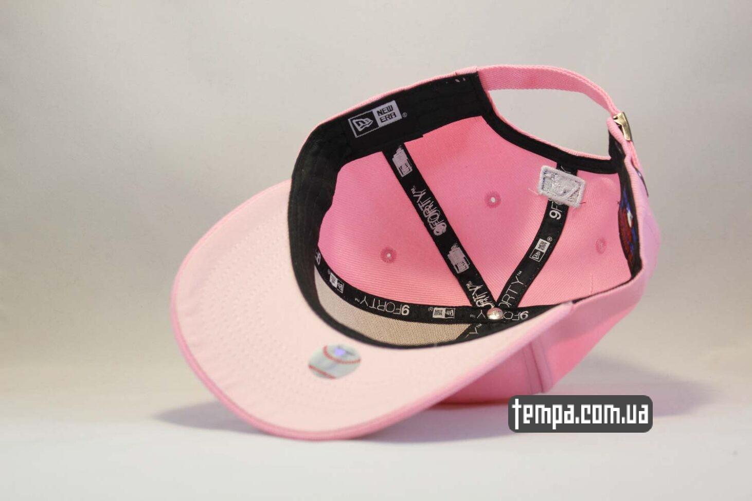розовая круглый кепка бейсболка New Era Yankees Pink розовая бейсболка