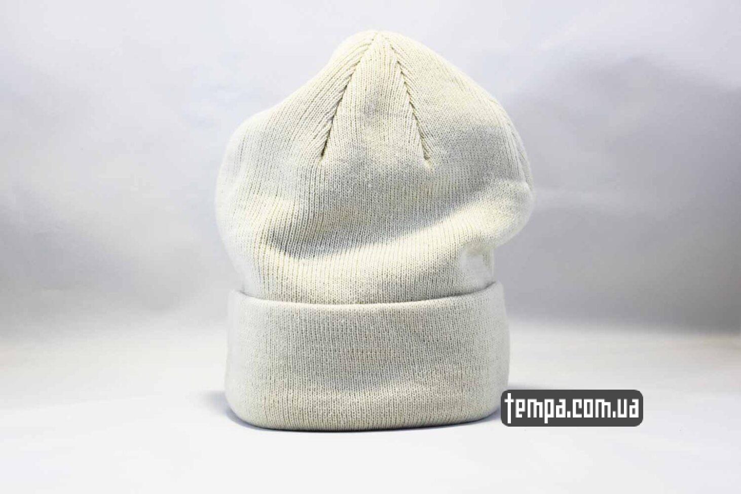 шапка beanie чисто белая однотонная без логотипов ASOS HM