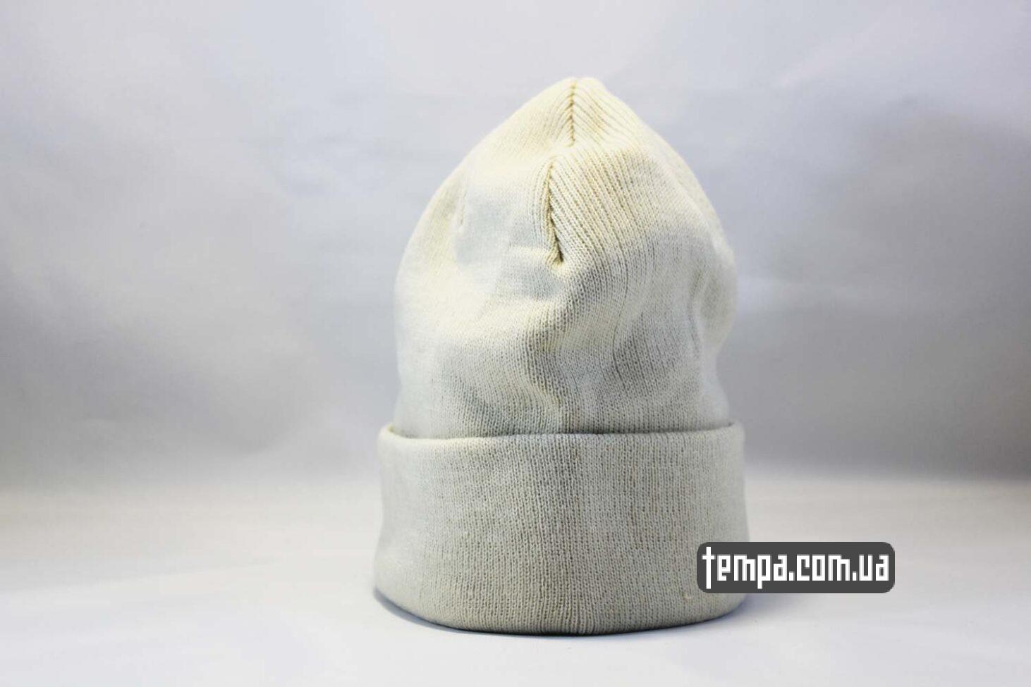 теплая зимняя двойная шапка beanie чисто белая однотонная без логотипов ASOS HM