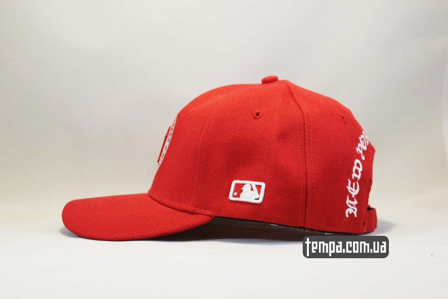 закругленный козырек кепка бейсболка New Era New Tork Yankees Red красная купить